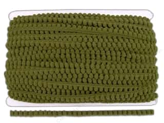 "Pom Poms: Cheep Trims Pom Pom 1/4"" Fringe 3/8"" Olive (36 yards)"