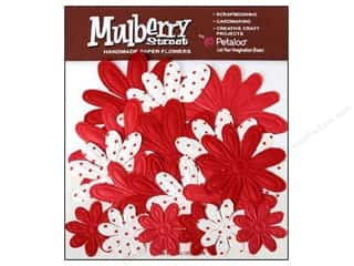 Petaloo Mulberry Daisy Embossed Red 18pc