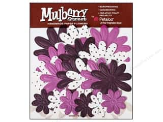 Petaloo Mulberry Daisy Embossed Eggplant 18pc