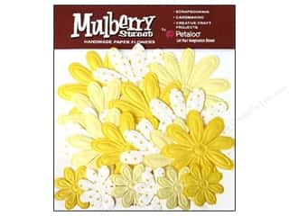 Petaloo Mulberry Daisy Embossed Yellow 18pc