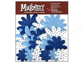 Petaloo Mulberry Daisy Embossed Royal Blue 18pc