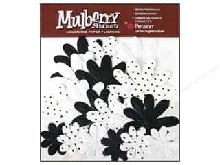 Petaloo Mulberry Daisy Embossed Black 18pc