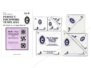 "Guidelines 4 Quilting Rotary Rulers & Templates: Marti Michell Template Set Perfect Patchwork B 4"" Square +"