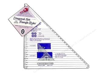 "Marti Michell Ruler Diagonal Set Triangle 6""-16"""