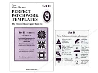 "Guidelines 4 Quilting Rotary Rulers & Templates: Marti Michell Template Set Perfect Patchwork D 4"" Square Bonus"
