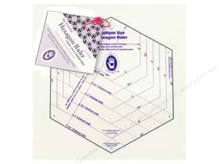 "Michell Marketing $12 - $14: Marti Michell Ruler My Favorite Hexagon 2"" to 4.5"""