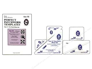 "Templates Sewing & Quilting: Marti Michell Template Set Perfect Patchwork M 12"" 5-Patch Block"