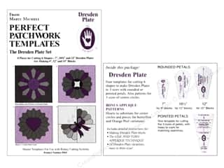 piecer $4 - $6: Marti Michell Template Set Perfect Patchwork Dresden Plate