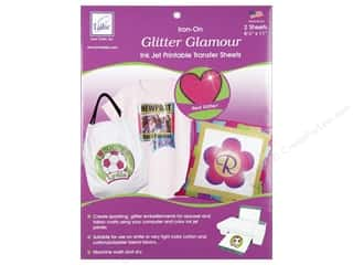 June Tailor 3 Sheets: June Tailor Glitter Glamour Iron-On Inkjet Transfer Sheets 2 pc.