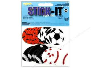 Sports Felting: CPE Stick-It Felt Shapes Sports Assorted 24 pc.