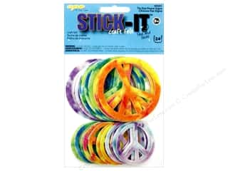 CPE CPE Stick It Felt: CPE Stick-It Felt Shapes Peace Signs 24 pc.