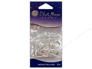 blue moon beads: Blue Moon Crimps Silver Assorted