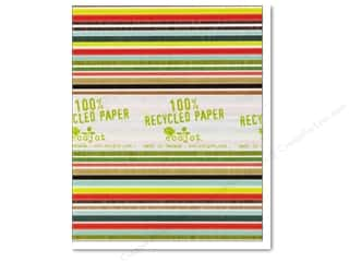 "Ecojot: Ecojot EcoNote Cards 4x5"" Rough Stripe 12pc"