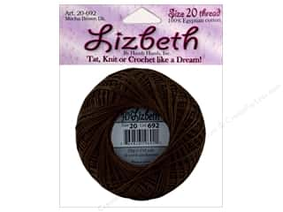 Handy Hands Lizbeth Tat Thread Sz 20 Mocha Brn Dk