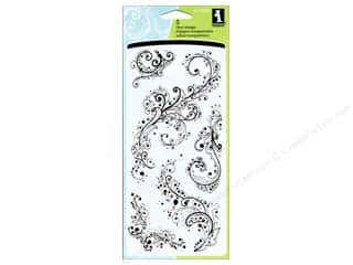 Rubber Stamping Craft & Hobbies: Inkadinkado InkadinkaClings Rubber Stamp Artistic Flourish