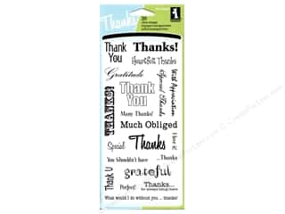 Inkadinkado inches: Inkadinkado InkadinkaClings Clear Stamp Thank You Words