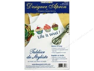 Clearance Blumenthal Favorite Findings: Dimensions Apron Stamped Cross Stitch Life/Sweet