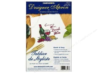 Holiday Sale: Dimensions Apron Stamped Cross Stitch Drink Wine