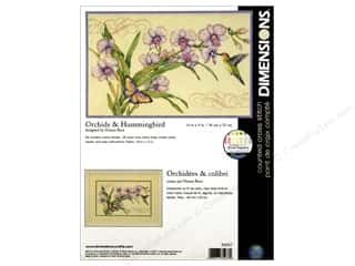Dimensions Cross Stitch Kit 14x9&quot; Orchid &amp; Humbird