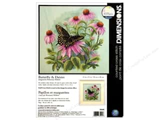 Dimensions Cross Stitch Kit 11x11&quot; Bttrfly Daisies
