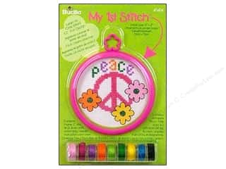Cross Stitch Project New: Bucilla Counted Cross Stitch Kit 3 in. Mini Peace