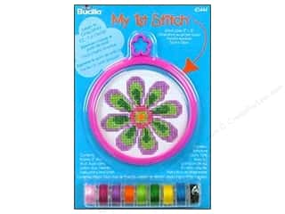 Cross Stitch Project Craft & Hobbies: Bucilla Counted Cross Stitch Kit 3 in. Mini Flower