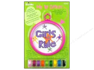 Projects & Kits Bucilla Cross Stitch Kit: Bucilla Counted Cross Stitch Kit 3 in. Mini Girls Rule