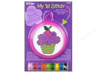 Projects & Kits Bucilla Cross Stitch Kit: Bucilla Counted Cross Stitch Kit 3 in. Mini Cupcake