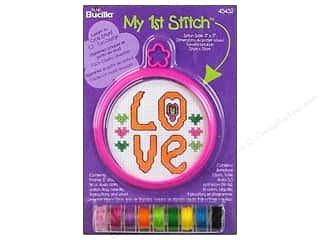 Weekly Specials Petaloo Expressions Collection: Bucilla Xstitch Kit My 1st Stitch Mini Love