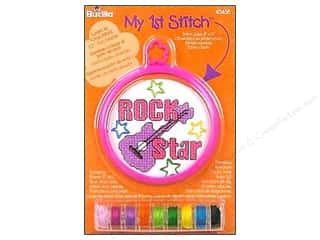 Weekly Specials Bucilla Beginner Cross Stitch Kit: Bucilla Counted Cross Stitch Kit 3 in. Mini Rock Star