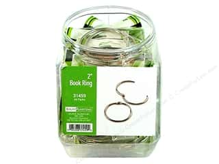 "Baumgartens Book Rings Bin 2"" Silver (48 pieces)"