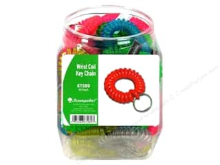 Baumgartens Wrist Coil Key Chain Bin Assorted (50 pieces)