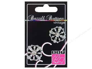 button: Bazzill Vintage Buttons 1 in. Caroline 2 pc.