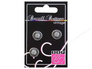 Bazzill Buttons: Bazzill Vintage Buttons 3/4 in. Juliet 3 pc.