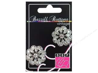 "button: Bazzill Buttons Vintage 1"" Charlotte 2pc"