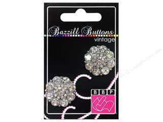 "button: Bazzill Buttons Vintage 1"" Helene 2pc"