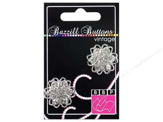 button: Bazzill Vintage Buttons 1 in. Alexandria 2 pc.