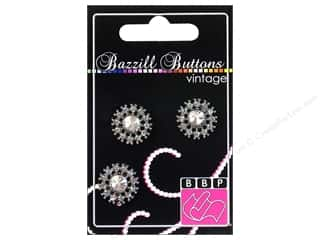 "button: Bazzill Buttons Vintage 3/4"" Victoria 3pc"