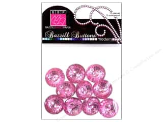 Bazzill bling: Bazzill Modern Buttons 3/4 in. Petunia 10 pc.