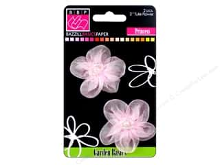 Scrapbooking &amp; Paper Crafts  Flowers / Blossoms: Bazzill Flowers Netting 2&quot; Princess 2pc