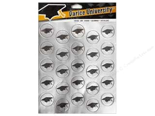 Theme Stickers / Collection Stickers: Darice Sticker Env Foil Graduation Hat Silver 50pc
