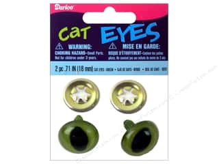Toys Darice Craft Eyes: Darice Cat Eyes with Metal Washers 18 mm Green 6 pc. (3 packages)