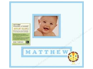 K&Co Scrapbook 12x12 Frame A Name Lion Sleeps Boy