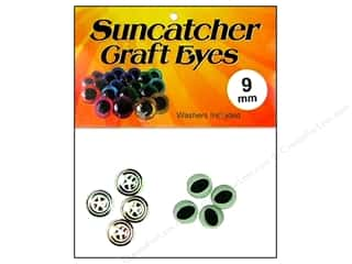 Suncatcher Craft Eyes Cat 9mm Sage Green 2pr