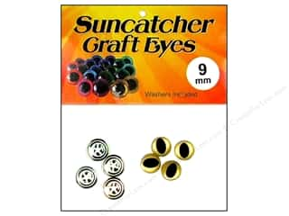 Suncatcher Craft Eyes Cat 9mm Shimmer Gold 2pr