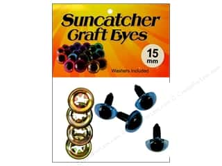Suncatcher Craft Eyes Cat 15mm Shimmer SkyBlue 2pr