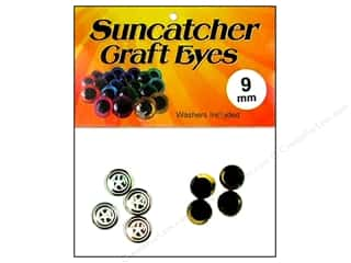 eyes w/ washer: Suncatcher Craft Eyes Sleepy 9mm Gold 2pr
