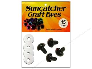 Suncatcher Craft Eyes Sleepy 15mm Brown 2pr