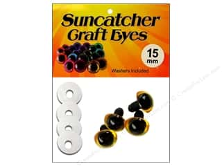 Suncatcher Craft Eyes Translucent 15mm Gold 2pr