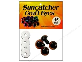 eyes w/ washer: Suncatcher Craft Eyes Translucent 15mm Brown 2pr